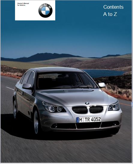 2004 BMW 525i Sedan User Manual