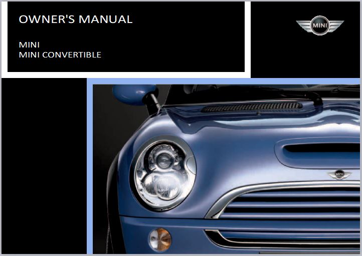 2004 BMW Mini Convertible Cooper Owners Manual