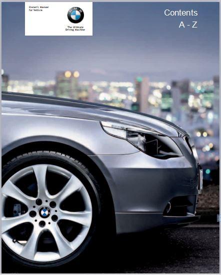 2005 BMW 525i Sedan User Manual