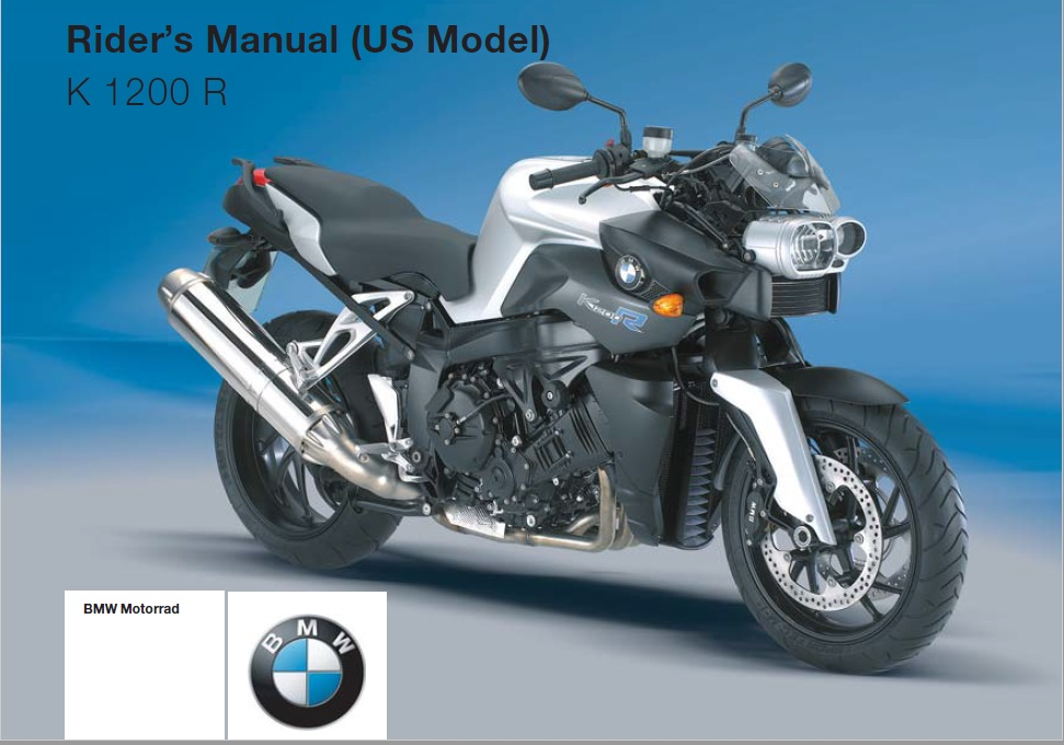 2005 BMW K 1200 R Owners Manual