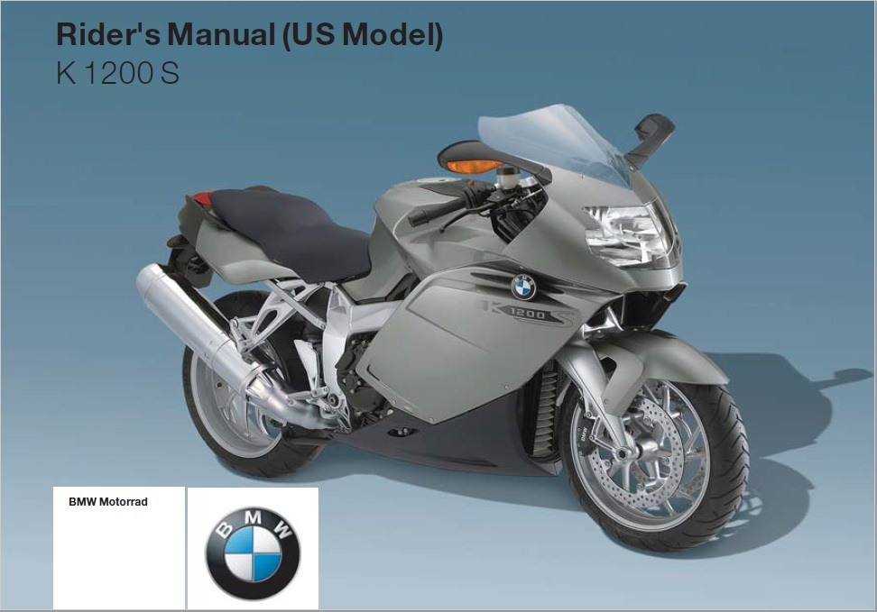 2005 BMW K 1200 S Owners Manual