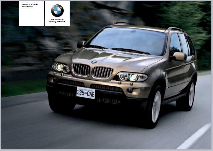 2005 BMW X5 3.0i SAV Owners Manual