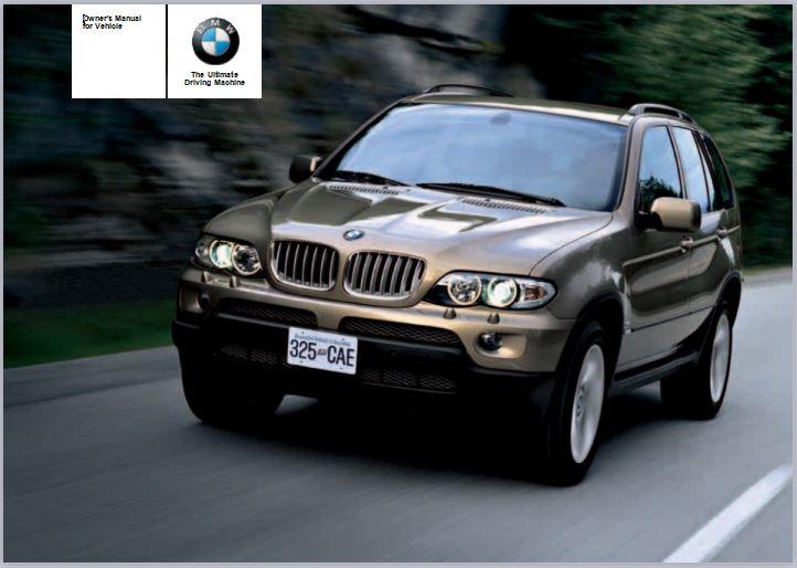 2006 BMW X5 3.0i SAV Owners Manual