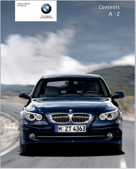 2007 BMW 550I Owners Manual