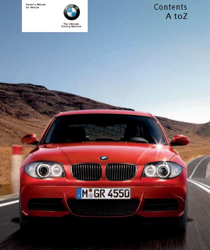 2008 BMW 128i,135i Convertible Owner's Manual