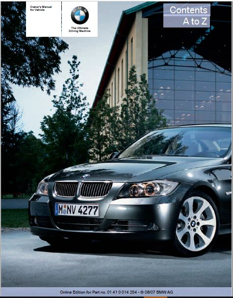 2008 BMW 328xi Sports Wagon Owners Manual