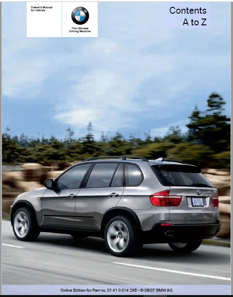 2008 BMW X5 4.8i Owners Manual