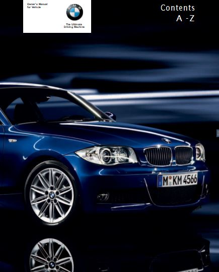 2009 BMW 128i Convertible 128i, 135i Owner's Manual