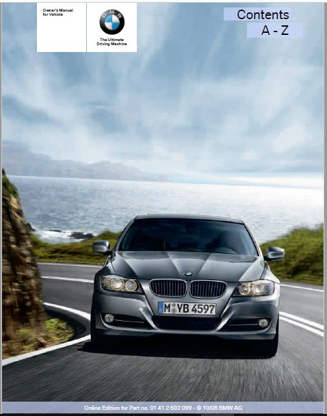 2009 BMW 328i xDrive Sports Wagon Owners Manual
