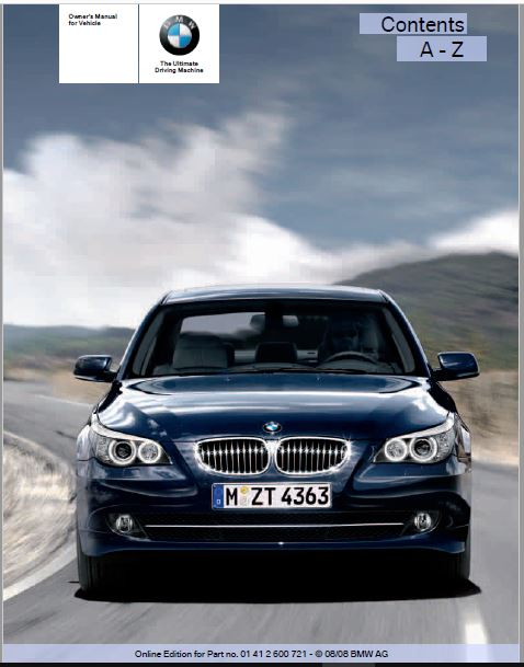 2009 BMW 535i xDrive Sports Wagon Owners Manual