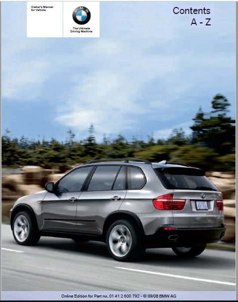 2009 BMW X5 xDrive35d Owners Manual