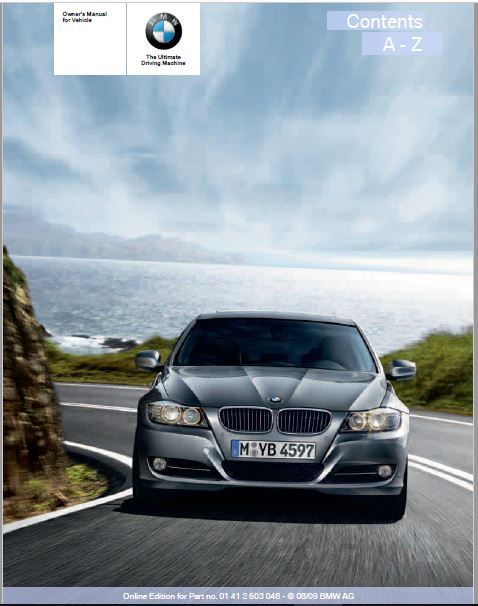 2010 BMW 328i xDrive Sports Wagon Owners Manual