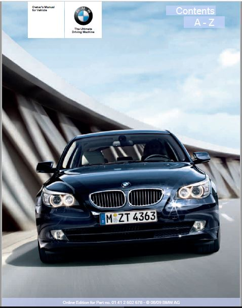 2010 BMW 528I XDRIVE Owners Manual