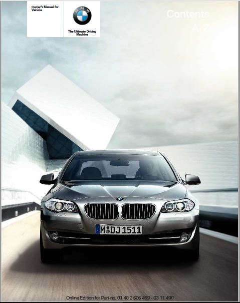 2011 BMW 550i xDrive Sedan Owners Manual