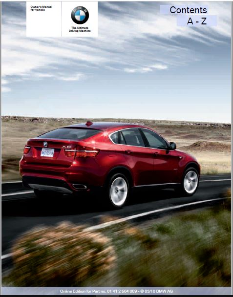 2011 BMW X6 xDrive50i Owners Manual