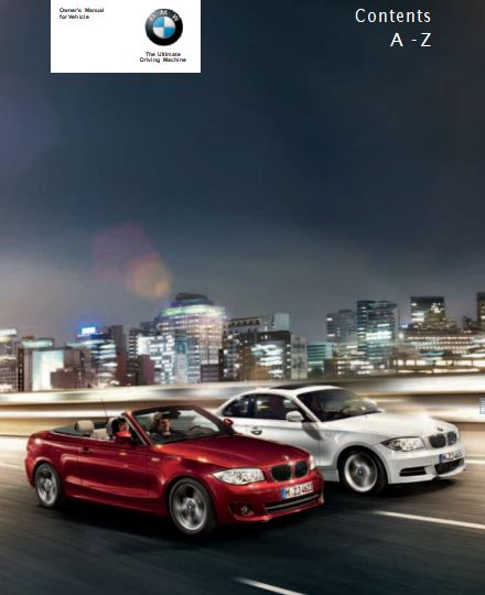 2012 BMW 128i Convertible Owner's Manual