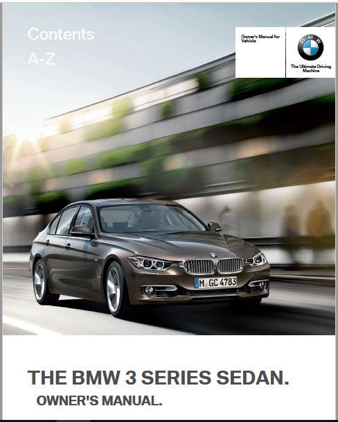 2012 BMW 328I Sedan Owners Manual