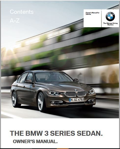 2012 BMW 335I Sedan Owners Manual
