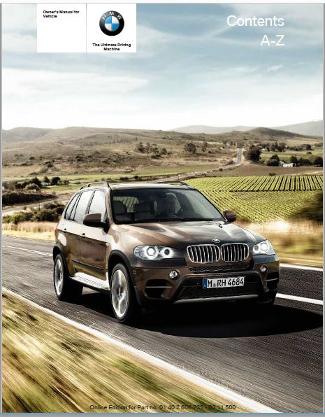 2012 BMW X6M Owners Manual