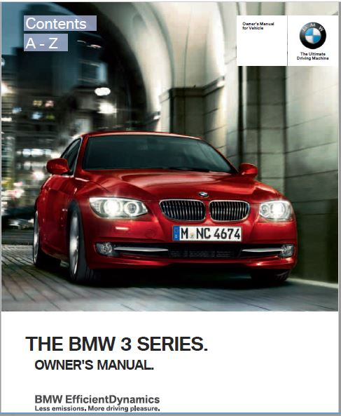 2012 BMW3 Series M3 Сoupe Owners Manual