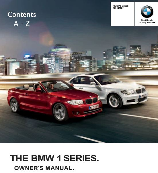 2013 BMW 128i Coupe Owner's Manual