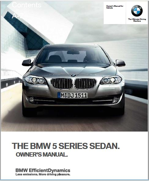 2013 BMW 5 Series Owners manual