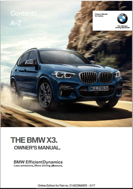 2018 BMW X3 Owner's Manual