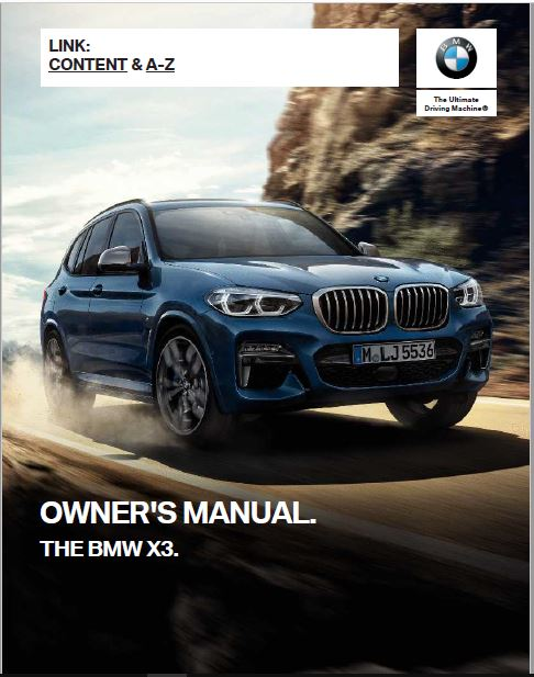 2019 BMW X3 Owner's Manual