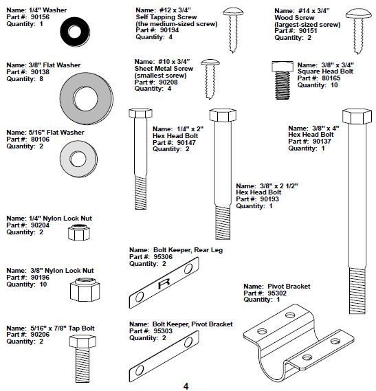 Bowflex Power Pro Parts Reference Guide