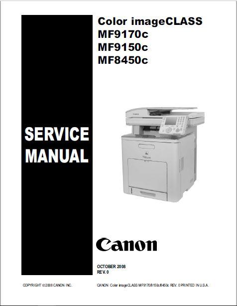 Canon Color imageCLASS MF9170c/MF9150c/MF8450c Service Manual