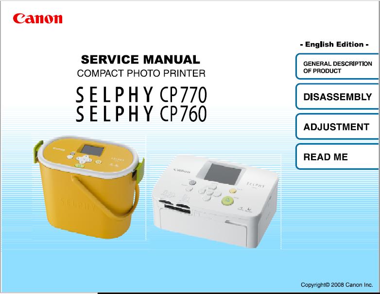 Canon CP770-760 Service Manual
