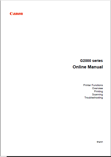 Canon G2000 series Online Manual
