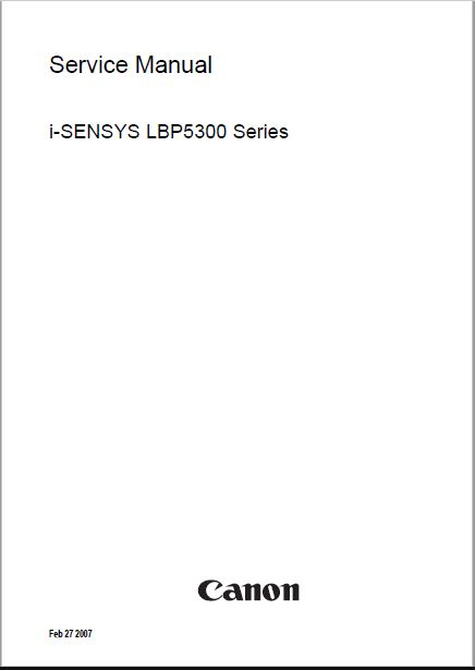 Canon i-SENSYS LBP5300 Series Service Manual