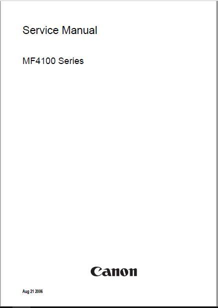 Canon i SENSYS MF4120/4140/4150 Service Manual