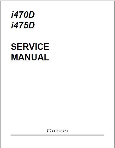 Canon i470D-i475D Service Manual