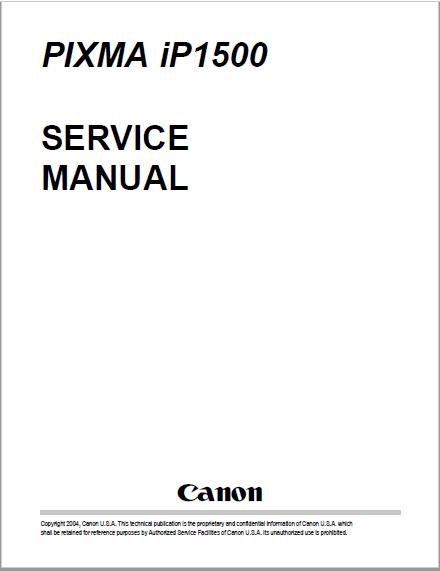 Canon IP1500 Service Manual