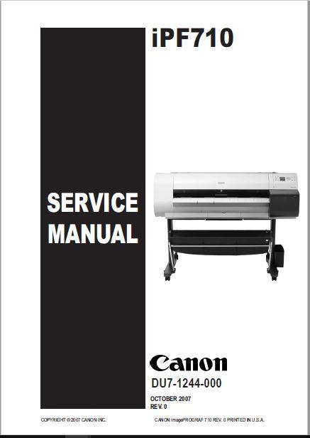 Canon iPF710 Service Manual