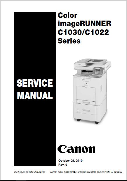 Canon IR C1022-C1030 Service Manual