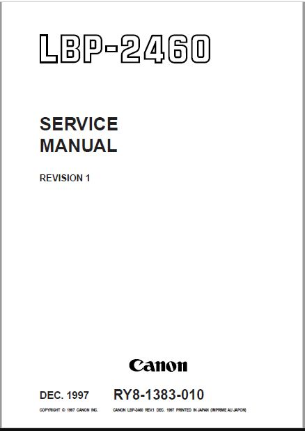 Canon LBP-2460 Service Manual