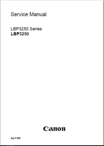 Canon LBP-3250 Service Manual