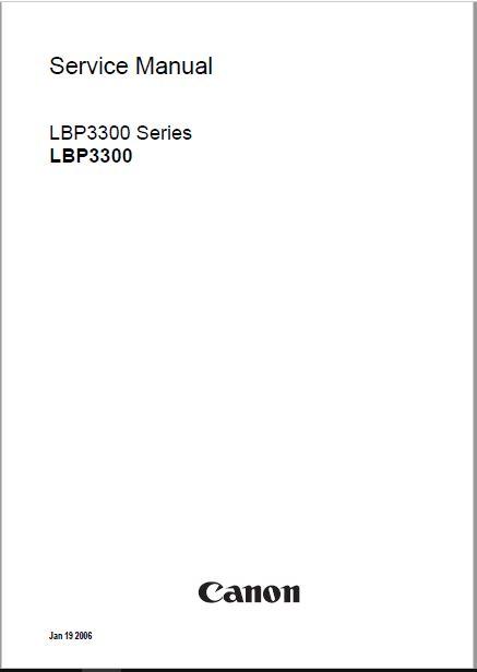 Canon LBP3300-3360 Service Manual