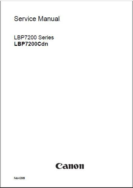 Canon LBP7200cdn Service Manual
