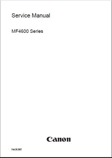 Canon MF4600 Service Manual