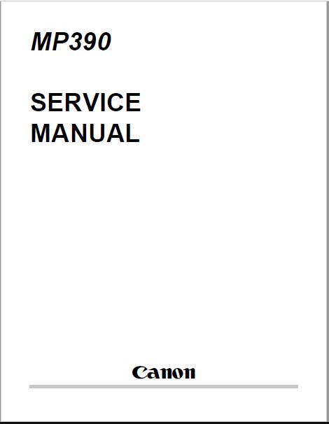 Canon MP390 Service Manual