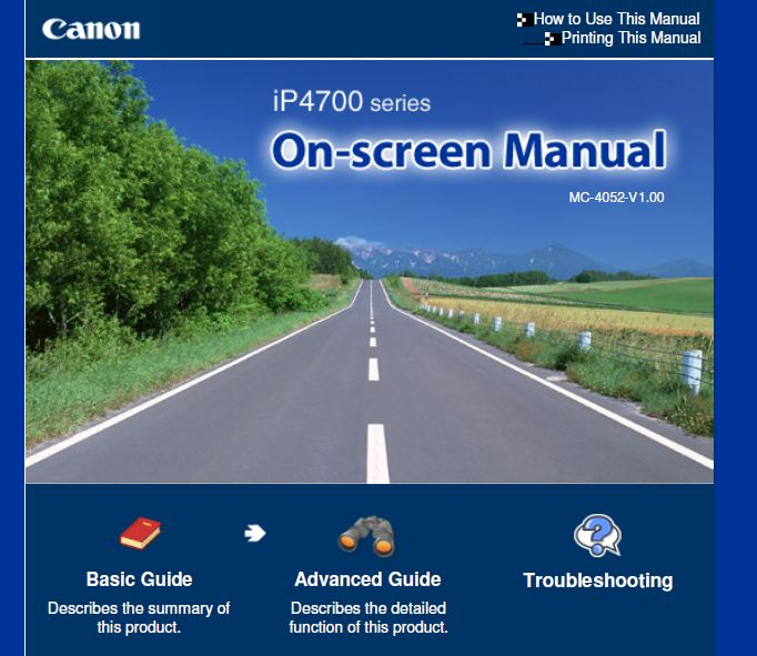 Canon Pixma iP4700 Manual