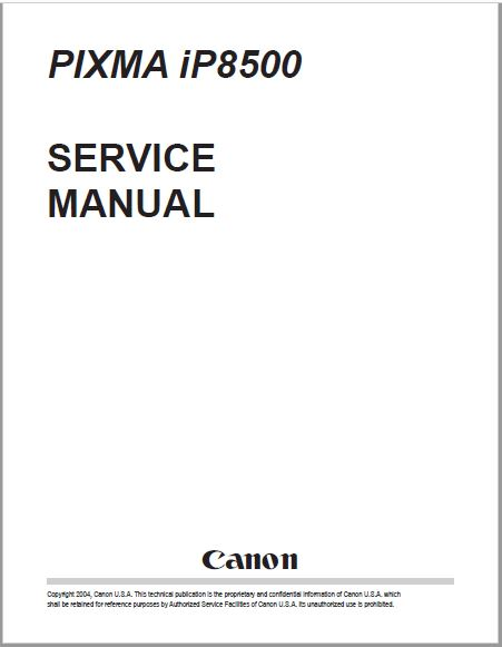 CANON PIXMA iP8500 SERVICE MANUAL