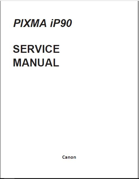 CANON PIXMA iP90 SERVICE MANUAL