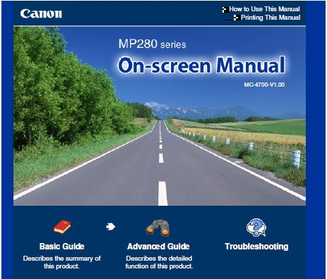 Canon Pixma MP280 User Manual
