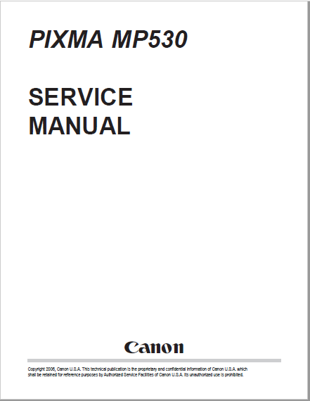 Canon Pixma MX530 Series Service Manual