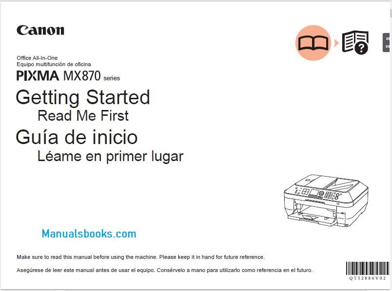 Canon Pixma MX870 Manual PDF